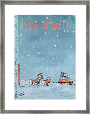 New Yorker December 24th, 1966 Framed Print by William Steig