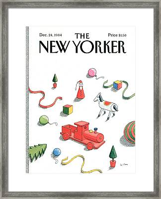 New Yorker December 24th, 1984 Framed Print by Pierre LeTan