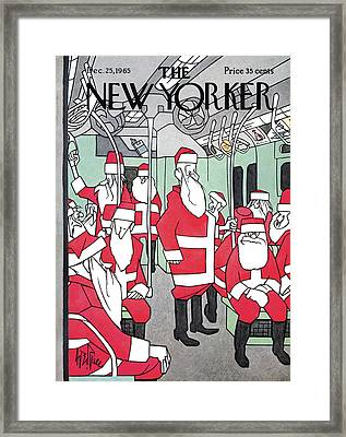 New Yorker December 25th, 1965 Framed Print by George Price