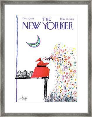 New Yorker December 25th, 1971 Framed Print