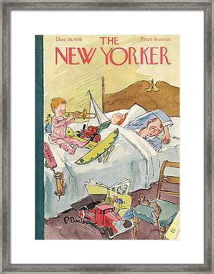 New Yorker December 26th, 1936 Framed Print by Perry Barlow