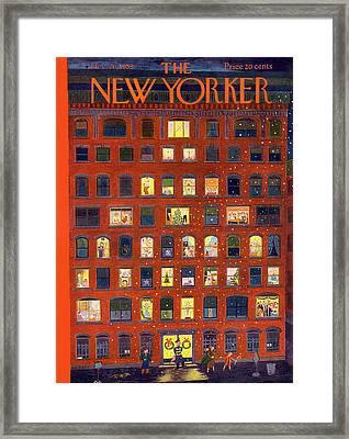 New Yorker December 26th, 1953 Framed Print