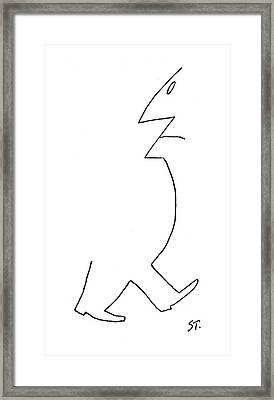 New Yorker December 26th, 1953 Framed Print by Saul Steinberg