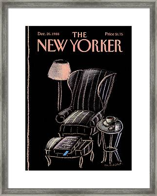 New Yorker December 26th, 1988 Framed Print