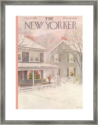 New Yorker December 27th, 1952 Framed Print by Edna Eicke