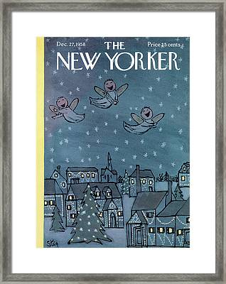 New Yorker December 27th, 1958 Framed Print by William Steig