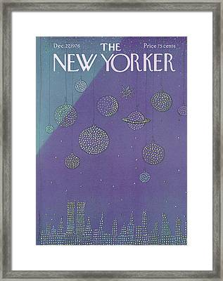 New Yorker December 27th, 1976 Framed Print by Eugene Mihaesco