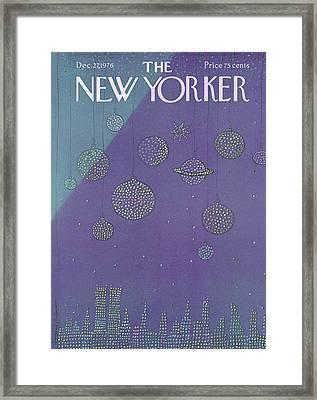 New Yorker December 27th, 1976 Framed Print