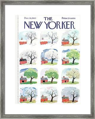New Yorker December 28th, 1963 Framed Print