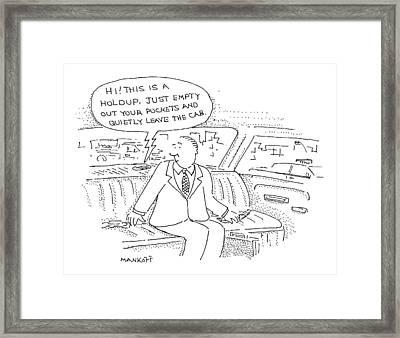 New Yorker December 28th, 1998 Framed Print by Robert Mankoff