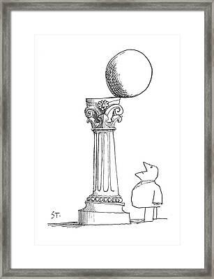 New Yorker December 29th, 1962 Framed Print by Saul Steinberg