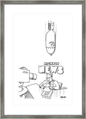 New Yorker December 2nd, 1991 Framed Print by Jack Ziegler