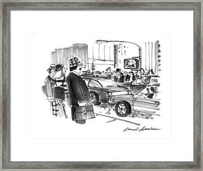 New Yorker December 2nd, 1996 Framed Print by Bernard Schoenbau