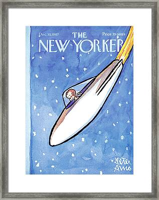 New Yorker December 30th, 1967 Framed Print by Peter Arno