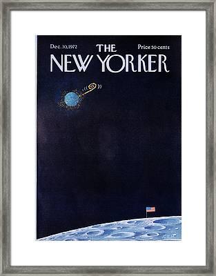 New Yorker December 30th, 1972 Framed Print by Charles E. Martin
