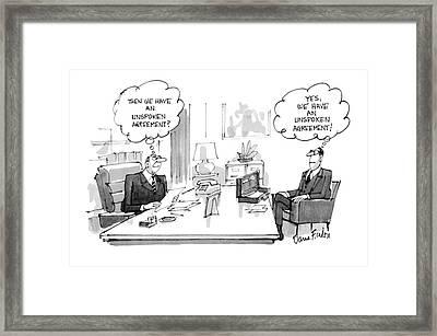 New Yorker December 30th, 1985 Framed Print by Dana Fradon