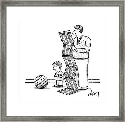 New Yorker December 30th, 1991 Framed Print by Tom Cheney