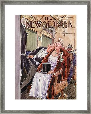 New Yorker December 3rd, 1938 Framed Print by Perry Barlow