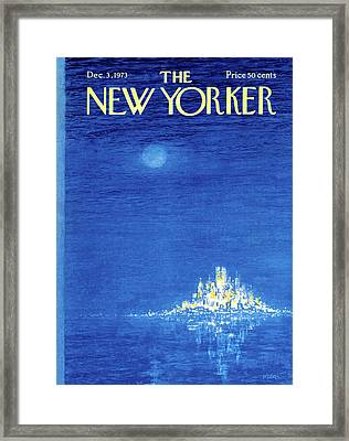 New Yorker December 3rd, 1973 Framed Print by Robert Weber