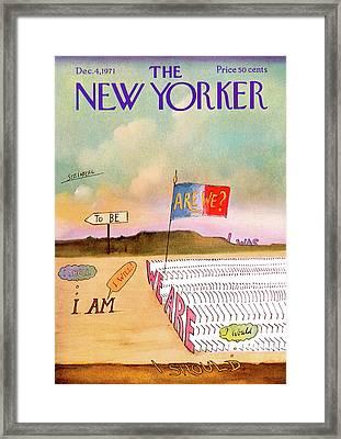 New Yorker December 4th, 1971 Framed Print by Saul Steinberg