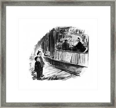 New Yorker December 6th, 1941 Framed Print by Perry Barlow