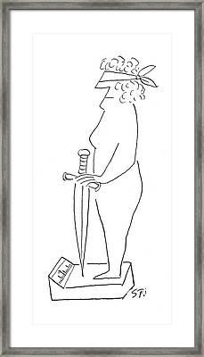 New Yorker December 6th, 1952 Framed Print by Saul Steinberg