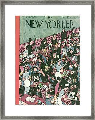 New Yorker December 7th, 1946 Framed Print by Christina Malman