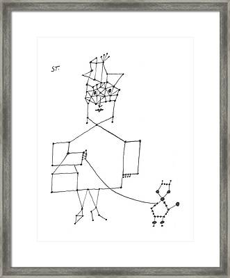 New Yorker December 7th, 1957 Framed Print by Saul Steinberg