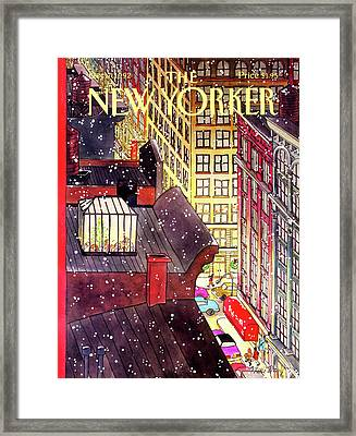 New Yorker December 7th, 1992 Framed Print by Roxie Munro