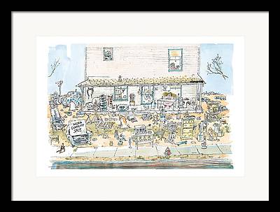 Front Porch Drawings Framed Prints