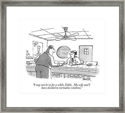 New Yorker December 8th, 1997 Framed Print