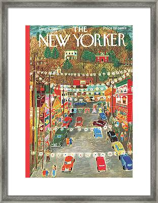 New Yorker December 9th, 1950 Framed Print by Ilonka Karasz