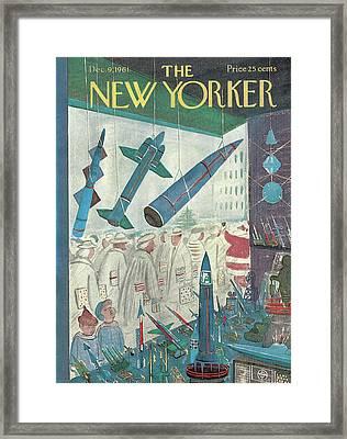 New Yorker December 9th, 1961 Framed Print by Anatol Kovarsky