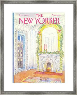 New Yorker December 9th, 1985 Framed Print by Iris VanRynbach