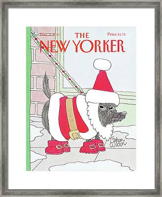 New Yorker December 9th, 1991 Framed Print by Gahan Wilson