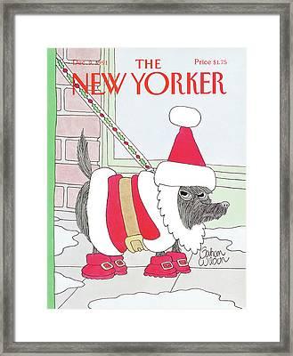 New Yorker December 9th, 1991 Framed Print