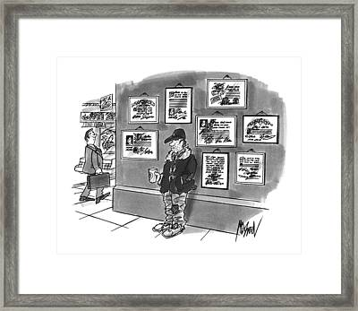New Yorker December 9th, 1996 Framed Print by Kenneth Mahood