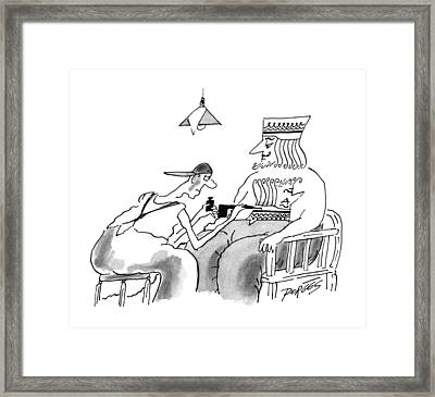 New Yorker December 9th, 1996 Framed Print by Peter Porges