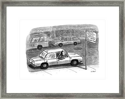 New Yorker December 9th, 1996 Framed Print by Roz Chast