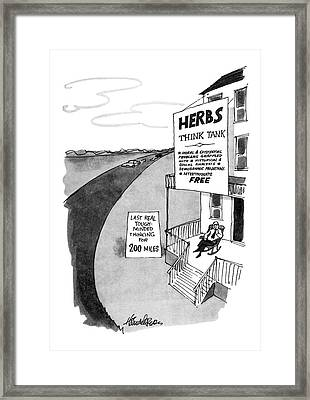 New Yorker February 10th, 1975 Framed Print by J.B. Handelsman