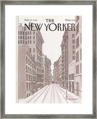 New Yorker February 10th, 1986 Framed Print by Roxie Munro