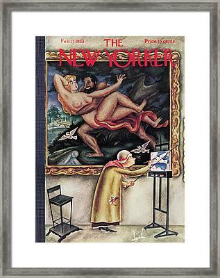 New Yorker February 11th, 1933 Framed Print by Constantin Alajalov