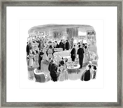 New Yorker February 11th, 1961 Framed Print by Robert J. Day