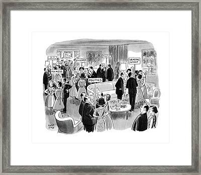 New Yorker February 11th, 1961 Framed Print