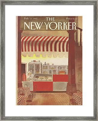 New Yorker February 11th, 1985 Framed Print by Abel Quezada