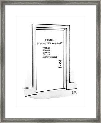 New Yorker February 11th, 1991 Framed Print