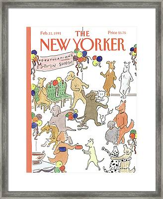 New Yorker February 11th, 1991 Framed Print by Danny Shanahan