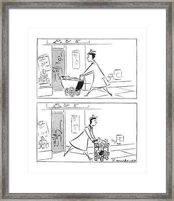 New Yorker February 12th, 1944 Framed Print by Roberta Macdonald