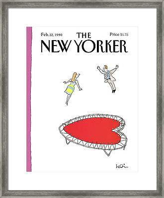 New Yorker February 12th, 1990 Framed Print by Arnie Levin
