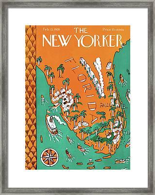 New Yorker February 13th, 1926 Framed Print by Ilonka Karasz